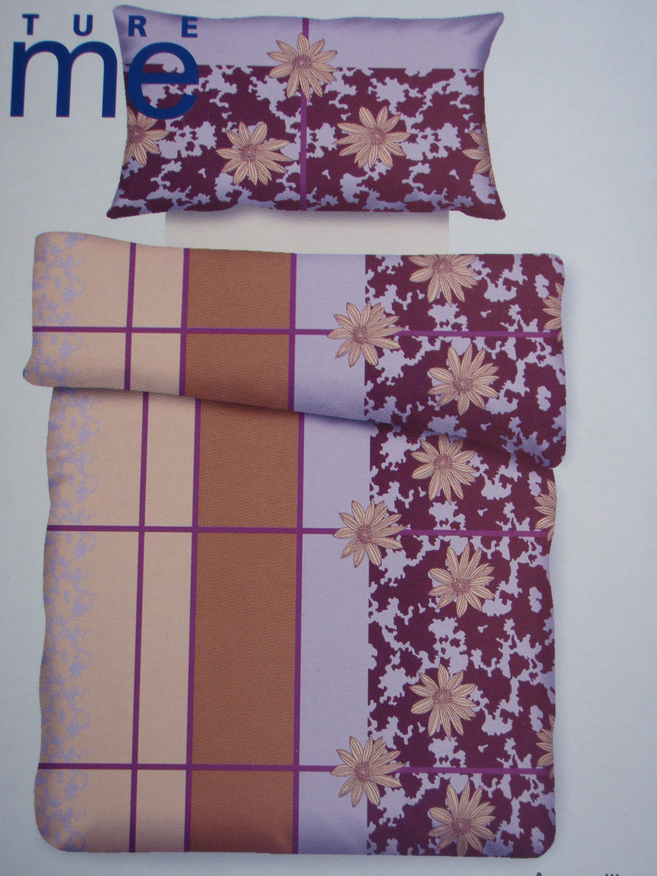 bettw sche garnitur aus baumwolle aronna lila silver magic. Black Bedroom Furniture Sets. Home Design Ideas