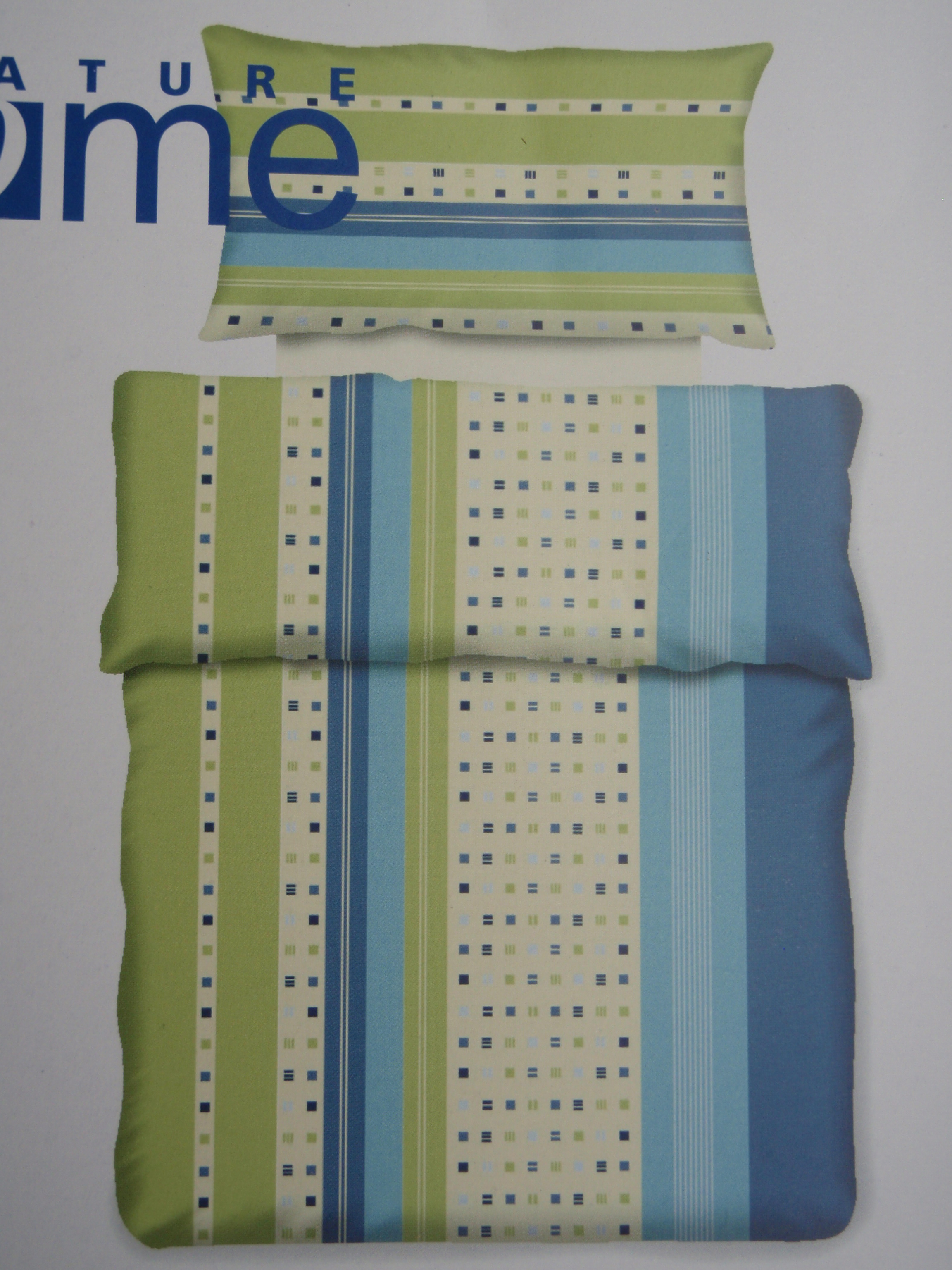 bettw sche garnitur aus baumwolle cedon blau silver magic. Black Bedroom Furniture Sets. Home Design Ideas
