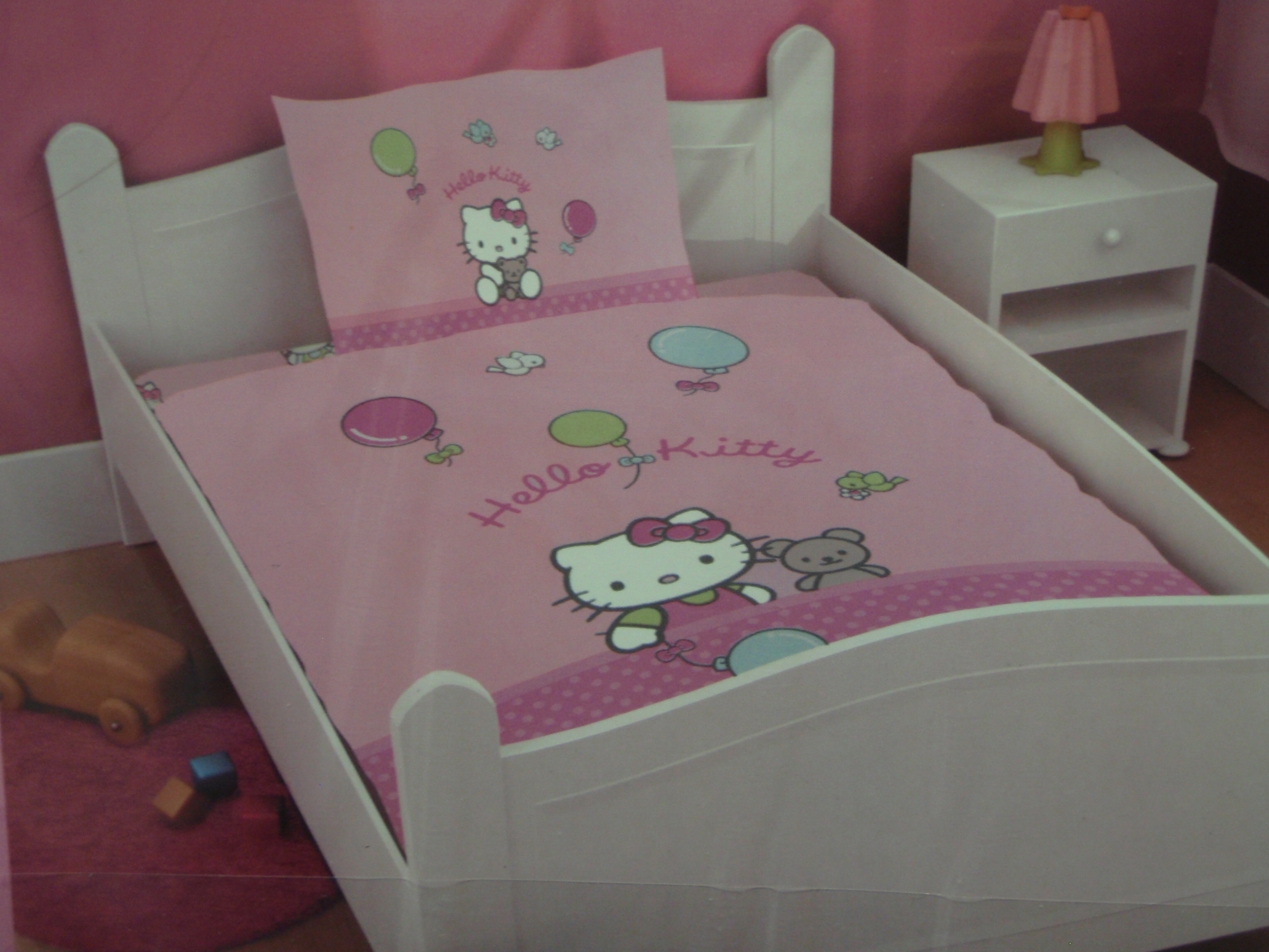 Hübsche Hello Kitty Bettwäsche Bella 100x135cm U 40x60cm Silver
